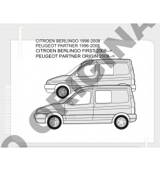Фаркоп на Peugeot Partner E1212AA