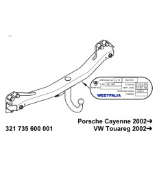 Фаркоп на  Porsche Cayenne 321735600001