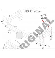 Фаркоп на Opel Astra J E4523AS