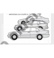 Фаркоп на Mercedes CLK E4120BA