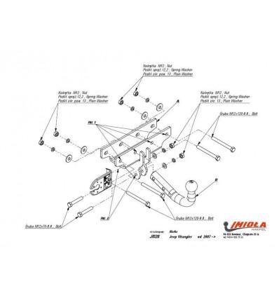 Фаркоп на Jeep Wrangler J/028
