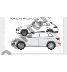 Фаркоп на Porsche Macan E0409AS