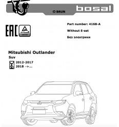 Фаркоп на Mitsubishi Outlander 4168-A