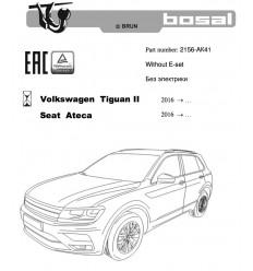 Фаркоп на Volkswagen Tiguan 2156-AK41