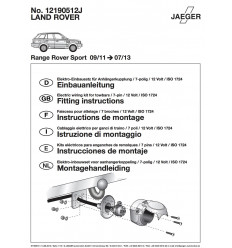 Электрика оригинальная на Land Rover Range Rover Sport  12190512