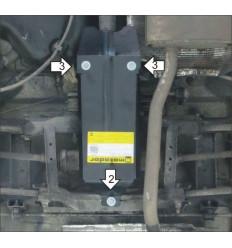 Защита заднего дифференциала для Renault Duster 01732