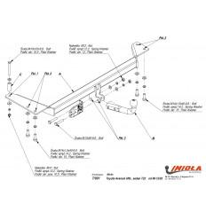 Фаркоп на Toyota Avensis T/001
