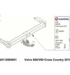 Фаркоп на Volvo S60 Cross Country 320112600001