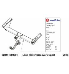 Фаркоп на Land Rover Discovery Sport 323141600001