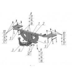 Фаркоп на Fiat Albea FA01