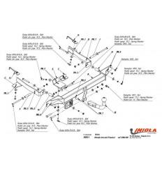 Фаркоп на Honda Accord H/011
