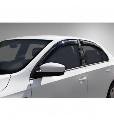 Дефлекторы боковых окон на Skoda Rapid 35102001