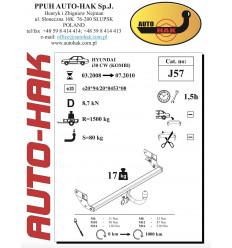 Фаркоп на Hyundai i30 J 57