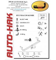 Фаркоп на Hyundai i30 J 77