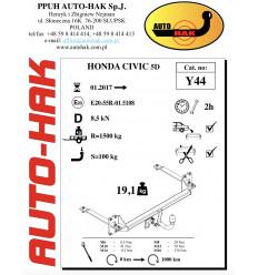 Фаркоп на Honda Civic Y 44