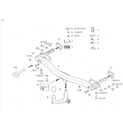 Фаркоп на Jeep Compass 342197600001