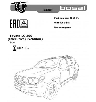 Фаркоп на Toyota Land Cruiser 200 3018-FL