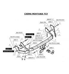 Фаркоп на Hyundai Santa Fe 4237A