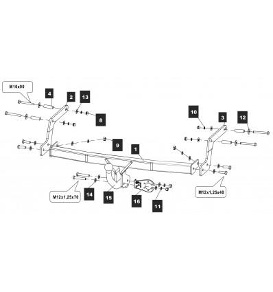 Фаркоп на Renault Sandero Stepway 18.2982.12