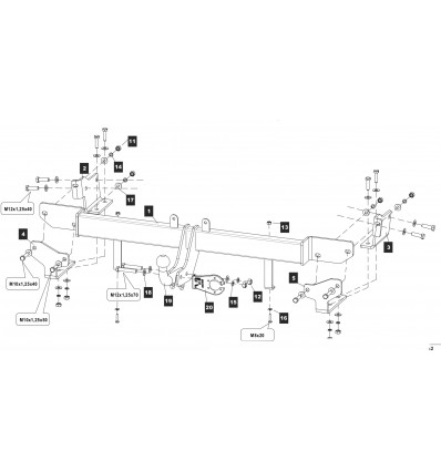 Фаркоп на Hyundai Solaris 10.2862.12
