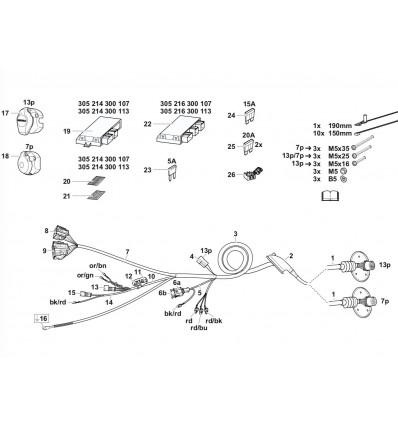Электрика оригинальная на Audi Q5 305216300107