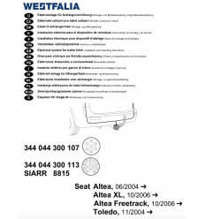 Электрика оригинальная на Seat Altea/Altea XL/Freetrack/Toledo 344044300113