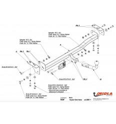 Фаркоп на Toyota Yaris Verso T/034