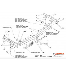 Фаркоп на Honda Civic H/003