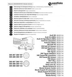 Электрика оригинальная на Audi A3/Q2 305408300107
