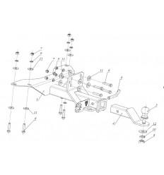 Фаркоп на УАЗ Патриот FA 0611-E
