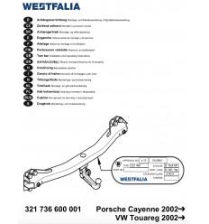 Фаркоп на Porsche Cayenne 321736900113
