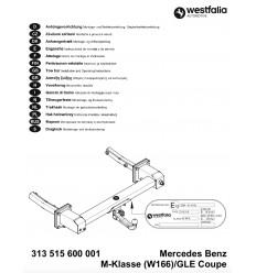 Фаркоп на Mercedes GLE Coupe 313515600001