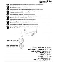 Электрика оригинальная на Audi A4/A5/Q5/Q7/Q8 305437300113