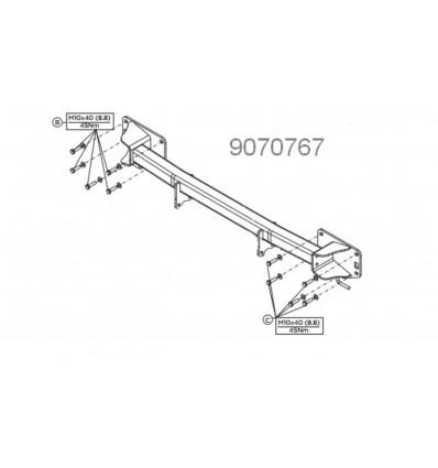 Балка для фаркопа Range Rover Sport 9070767