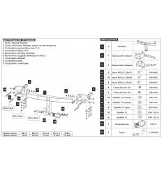 Фаркоп на Subaru Forester 22.9034.12