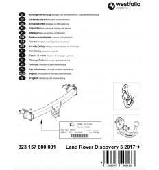 Фаркоп на Land Rover Discovery V 323157600001