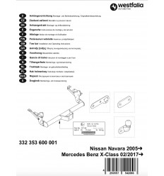 Фаркоп на Mercedes X-Class 332353600001