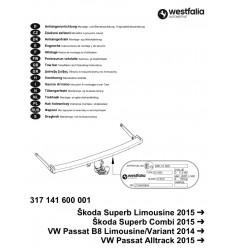 Фаркоп на Volkswagen Passat B8 317141600001