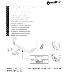 Фаркоп на Mitsubishi Eclipse Cross 340132600001