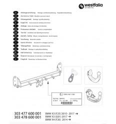 Фаркоп на BMW X3 303478600001