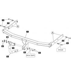 Инструкция по установке фаркопа на Volkswagen Jetta SF.3047.12
