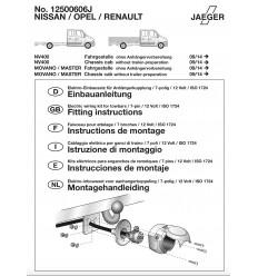 Штатная электрика к фаркопу на Nissan NV400 12500606