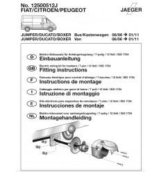 Штатная электрика к фаркопу на Peugeot Boxer 12500512