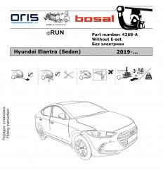 Фаркоп на Hyundai Elantra 4268-A