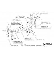 Фаркоп на Toyota Land Cruiser Prado 120,150 T/052