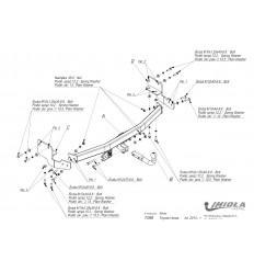 Фаркоп на Toyota Venza T/058