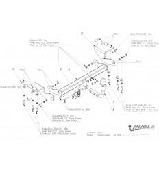Фаркоп на Toyota Verso T/042