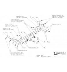 Фаркоп на Mazda CX-5 X/031