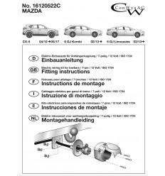 Штатная электрика к фаркопу на Mazda CX-5 16120522