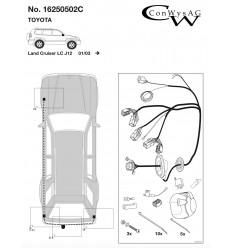 Штатная электрика к фаркопу на Toyota Land Cruiser 120 16250502